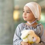 Child with trach tie
